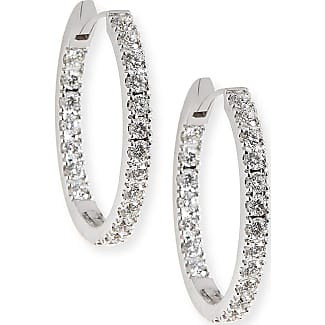 Memoire Diamond Eternity Hoop Earrings in 18K White Gold O6EmjP