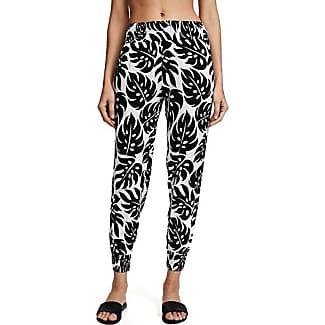 Mikoh Woman Leopard-print Silk-crepe Tapered Pants Gray Size 3 Mikoh Swimwear UDXJW