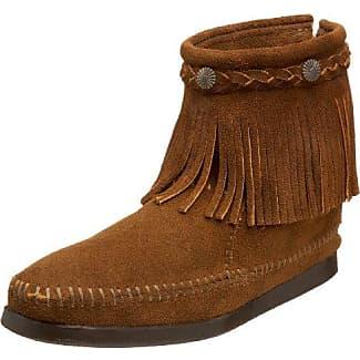 Minnetonka Chukka Wedge Boot - Bota mocasín, color Dusty Brown, talla 40 EU/7 UK/9 US