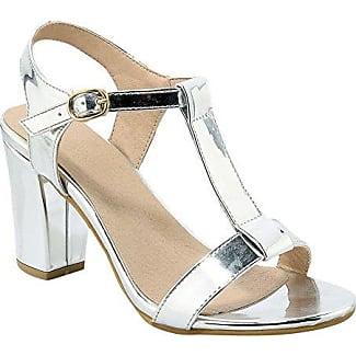 Damen Süß und Modern Peep-Toe Plateau Chunky High-Heel Pantoletten mit Pailletten Slingback Runde Spitze Pantoletten (34 EU, Silber) MissSaSa