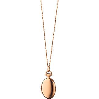 Monica Rich Kosann Anna 18k Gold Petite Locket Necklace, 17L