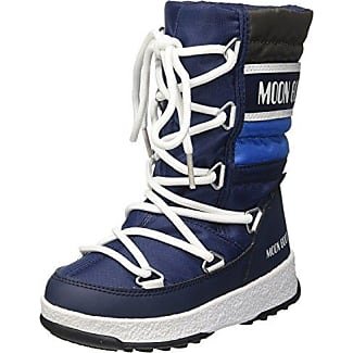 Moon Boot We Sport Jr WP, Botas de Nieve Unisex Niños, BLU (BLU Navy/Bianco), 28 EU