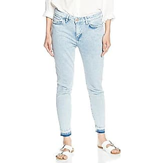 New Look Petite Bleach Raw Hem, Petos para Mujer, Azul (Light Blue), 34