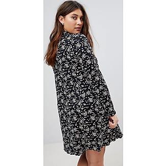 New Look Curve Mono Floral Print Swing Dress - Black pattern New Look Plus Best Sale Online lGbAjI
