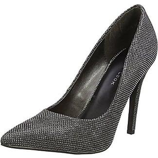 Sensation 2 - Zapatos de Tacón Mujer, Color Plateado, Talla 36 EU (3 UK) New Look