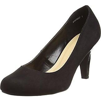 New LookLotta, Zapatos de Tacón Mujer, Negro (Black), 37 EU (4 UK)