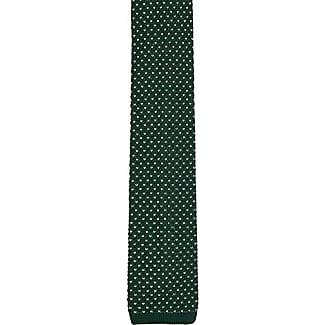 Slim Necktie - Green Wool Knit With White Polka Dots. Cravate Mince - Laine Verte En Maille À Pois Blancs. - Notch Wyclef Notch - Encoche Encoche Wyclef a8QIPja