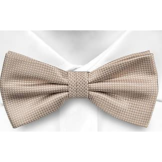 Pre tied bow tie - Beige, blue, brown & red stripes on twill Notch