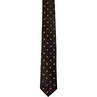 Silk Handkerchief - Black, ribbed base with small, orange stars - Notch MARLEY Notch