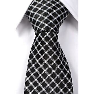 Tie from Tieroom, Notch SAID has a black base & a checked pattern in white Notch