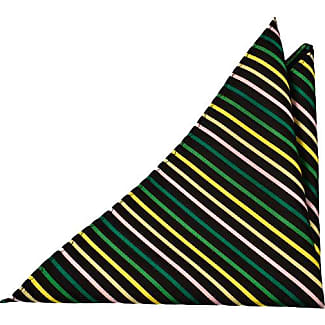 Handkerchief from Tieroom, Notch HAMPUS, black base, light blue stripes Notch