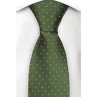 Tie from Tieroom, Notch GOMEZ slim, Forest Green base & small silver white dots Notch