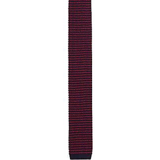 Cravate - Soie Tricoté Mousse Marine À Pois Rouges - Cran Cran Stewart Pj9fNtV