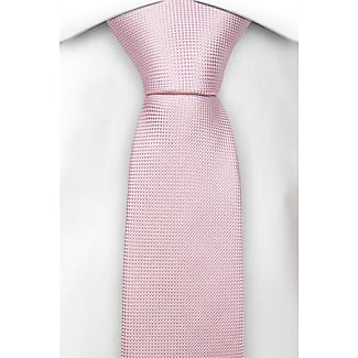 Boys tie medium - Light apricot with tonal herringbone pattern Notch wrhYw2v
