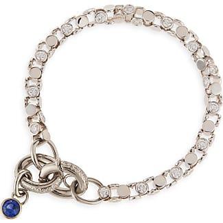 Oscar Heyman 18K White Gold Diamond Watch Bracelet with Blue Sapphire Toggle d50lGxO6Z