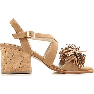 Sandals for Women On Sale in Outlet, Taupe, Suede leather, 2017, 6.5 Paloma Barcel��