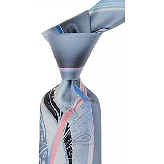 Ties On Sale, Bright Sky Blue Melange, Silk, 2017, one size Borrelli Napoli