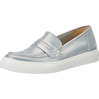 3402/1, Zapatos Derby de Cuña Mujer, Plateado (Mocha), 39 EU Peperosa