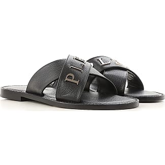 Sandals for Men On Sale, Black, Leather, 2017, EUR 44 - US 11 - UK 10 Philipp Plein