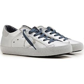 Sneaker für Damen, Tennisschuh, Turnschuh Günstig im Sale, Weiss, Leder, 2017, 36 37 38 Philippe Model