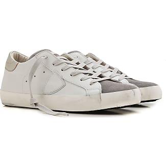 Sneaker für Damen, Tennisschuh, Turnschuh Günstig im Sale, Weiss, Leder, 2017, 35 36 37 38 41 Philippe Model