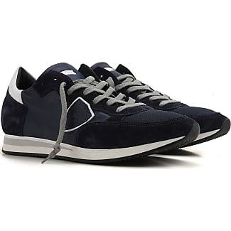 Chaussures De Sport Pour Les Hommes, Anthracite, Cuir, 2017, 40 41 42 43 Modèle Philippe