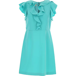 Dress for Women, Evening Cocktail Party On Sale, aquamarine, polyestere, 2017, 10 12 14 8 Pinko