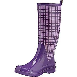 Plaid Wellies Wellington Boots- Bottes de neige femme - Violet - Purple - Violett (flieder 10), 38 EU (5 UK)Playshoes