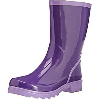 Wellies Wellington Boots, Bottes de neige femme - Vert - Green - Grün (grün/grau 798), 36 (4 UK)Playshoes