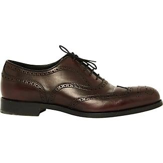 Prada Zapatos de Cordones Para Hombre, Color Marrón, Talla 40.5 EU