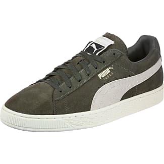 Dentelle Suède Pumas Chaussures Avec Ven. Xl Baskets Lo Olive Olive fiixM1