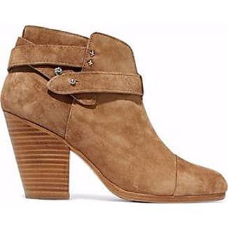 RAG&BONE Woman Suede Ankle Boots Camel Size 36 Gz44hBfbK