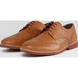 Red TapeStowe - Zapatos Planos con Cordones Hombre, Color Marrón (Tan), 44EU, Talla del manufacturier:11 UK