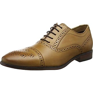 Red TapeStowe - Zapatos Planos con Cordones Hombre, Color Marrón (Tan), 42EU, Talla del manufacturier:8 UK