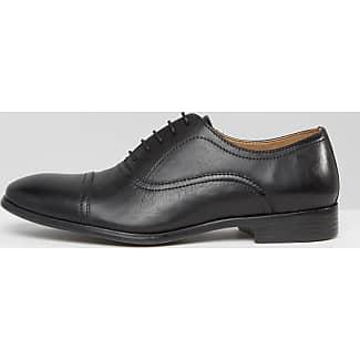 Zapatos Oxford de cuero negro de Red Tape Redtape xmcvf
