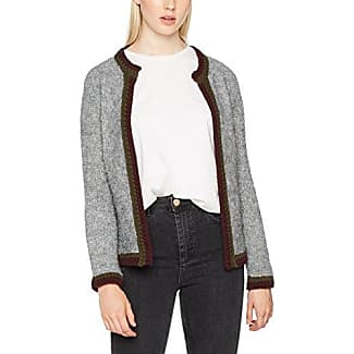 Rich&royal 1706-134, Chaqueta Punto para Mujer, Gris (Grey Melangé 845), Small amazon el-blanco