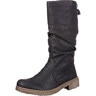 07200-00 4020931549467 - Botas de cuero para mujer, color negro, talla 38 Rieker