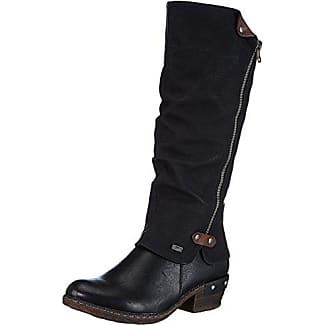 Rieker Y8086-00 00 Black, Schuhe, Stiefel & Stiefeletten, Stiefel mit Absatz, Schwarz, Female, 36