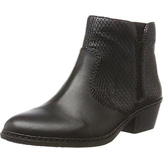 50634, Botines Mujer, Negro (Black 01), 39 EU Rieker