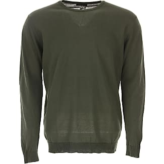 Sweater for Men Jumper On Sale, Military Green, Cotton, 2017, M XXL Roberto Collina