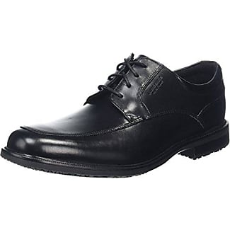 Rockport Essential Details II Apron Toe - Zapatos Planos con Cordones Hombre, Negro (Black Leather), 45