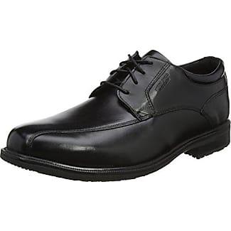 RockportEssential Details II Plain Toe - Zapatos Planos con Cordones Hombre, Color Negro, Talla 44.5