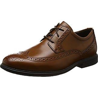 Rockport Style Purpose Wing Tip, Zapatos de Cordones Brogue para Hombre, Marrón (Tan), 46 EU