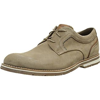 Rockport Wynstin Apron Toe, Zapatos de Cordones Oxford para Hombre, Marrón (Brown), 40.5 EU