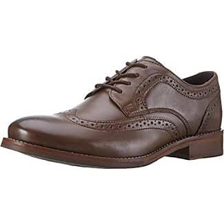 RockportEssential Details II Bike Toe - Zapatos Planos con Cordones Hombre, Color Negro, Talla 42