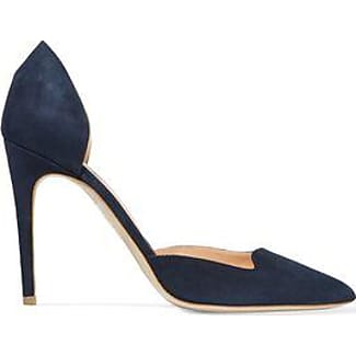 Rupert Sanderson Woman Leather-trimmed Velvet Platform Pumps Midnight Size 40 Cheap Sale Wholesale Price k5t33YX