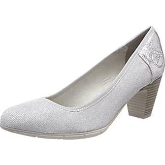 24407, Zapatos de Tacón para Mujer, Azul (Denim Comb), 41 EU s.Oliver