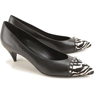 Sandals for Women On Sale, Black, Leather, 2017, 5 8.5 Saint Laurent