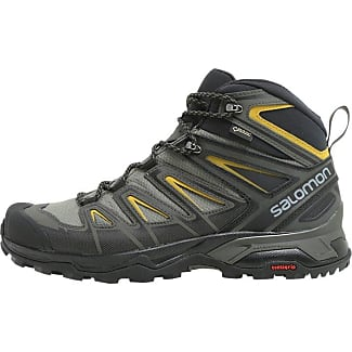 Salomon X Ultra 3 GTX W, Chaussures de Randonnée Basses Femme, Multicolore (Magnet/Black/Mineral Red), 41 1/3 EU