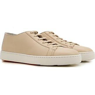 Sneakers for Women, White, Leather, 2017, 3.5 4 5.5 6 7.5 Santoni